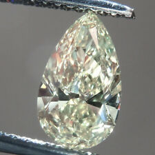 Lovely 12 X 7.5 MM 2.87 CT Off White Pear Tear Drop Cut Loose Moissanite 4 Ring