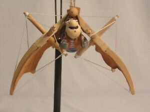 Unique Handmade and Painted Hanging Wooden Hang Glider Figurine