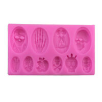 Halloween Skull Silicone Mold Fondant Cake Chocolate Mould Baking DIY Molds ^D