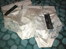 Two Pairs ivory Silk Knickers M And S Autograph Size 20