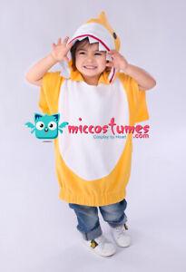 Little Kids Shark Costume Halloween Toddler Mascot Hoodie for Boys Girls