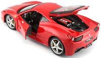 Ferrari 458 Italia Red 1:24 Diecast Model - Bburago - 26003RD *