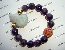 Feng Shui - Jade Wu Lou & I-Ching Coin with 12mm Amethyst