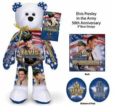 Elvis Presley 50th Anniversary in the USA Army Bear -