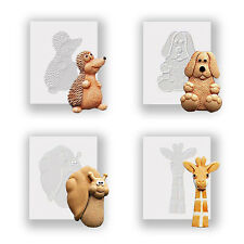 Four Animals - Silicone Moulds, Food Safe, Cake Decorating, Sugarcraft Molds