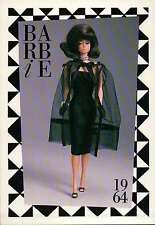 "Barbie Collectible Fashion Trading Card  "" Black Magic Ensemble "" + Pearls 1964"