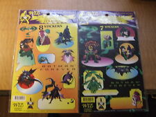 BATMAN FOREVER WIZ STICKER SHEET NEW SEALED 1995 RIDDLER TWO FACE DC COMICS