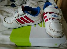 Baby Boy Adidas Shoes Infant Size 5 K White Boxed Hardly Worn