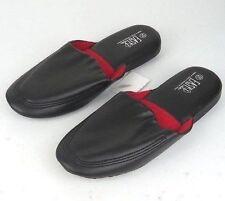 Men's Soft Vinyl House Slippers Brown Black Burgandy Blue Sizes 9-13 New