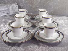 Gareis GKC Porzellan 100 Kaffeeservice 2 Kaffeegedecke Blau Gold 70er Waldsassen