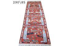 hand made afghan war rugs, afghan war rug runner size 290 cm x 85 cm