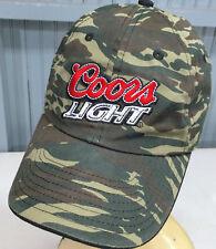 Coors Light Beer Camo Adjustable Baseball Cap Hat