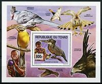 Chad 2013 MNH Scouting & Nature 1v Deluxe S/S Scouts Kingfishers Birds Stamps