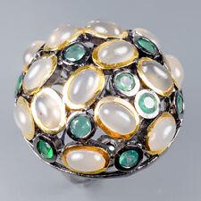 Vintage Natural Moonstone 925 Sterling Silver Ring Size 7/R119951