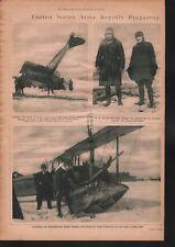 WWI 1917 Mineola BB Aesota & Capt JW Briggs Plane Crash+San Diego Flying School