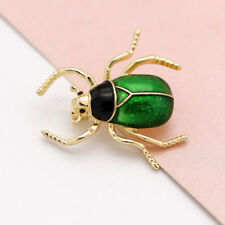 Pin for Women Kids Jewelry Gift Vintage Enamel Alloy Green Insect Animal Brooch