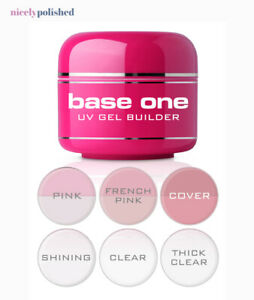 Base One Nail Gel Builder Silcare Clear Cover Touch Thick French Pink Shining