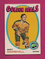 1971-72 OPC # 73 GOLDEN SEALS BERT MARSHALL VG CARD  (INV# A1941)