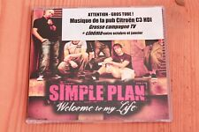 Simple Plan – Welcome To My Life - CD  single promo