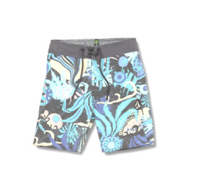 Volcom Boy Tripped Board Shorts Blue Size 28 (16) 3180