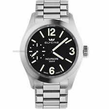 Mens Glycine 3873.19.MB Incursore Mechanical Black Dial Stainless Steel Watch