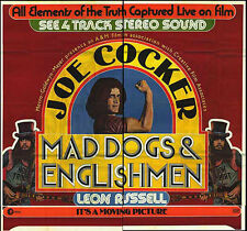 MAD DOGS AND ENGLISHMEN orig large 6-sheet movie poster JOE COCKER/LEON RUSSELL