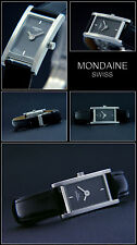 RECHTECKIG !! MONDAINE SWISS MADE DAMEN UHR BAND: FALTSCHLIESSE