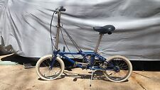 Vintage Dahon Blue Folding Bike 3 speed