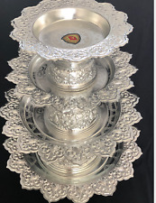 Traditional Thai Aluminium Silver Platter Stand -Various Sizes- BRAND NEW BOXED