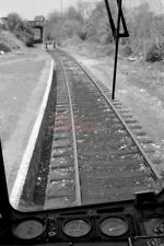 PHOTO  VIEW FROM CAB ON THE GUNNISLAKE BRANCH 1980