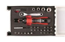 Bitset 31-teilig , S2-Stahl , mit Stecknüssen, Ratsche, Steckgriff, Adapter