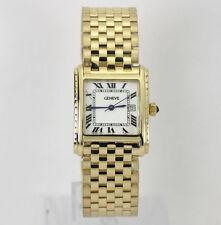 Geneve 14K yellow gold mens watch mesh link bracelet 25 MM 57.6 grams Swiss date