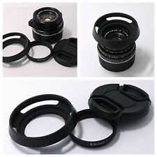 Adapter Ring + Hood + cap Leica E39 to Summicron-C 40/2 (S5.5) f/2.0 Lens