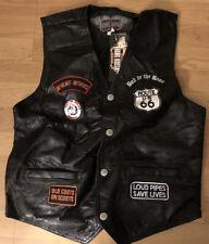 "Hard Rock Heavy Metal Motorcycle Biker Jacket Vest ""Live To Ride, Ride To Live"""
