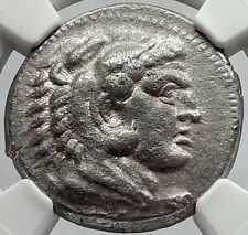 ALEXANDER III the GREAT Tetradrachm Silver Ancient Greek SALAMIS Coin NGC i64149