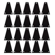 20 Pcs Custom Guitar Truss Rod Cover For Import Jackson Guitars Black 3ply