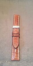 NEW BREITLING BROWN CROCODILE ALLIGATOR STRAP with Stainless Steel Tang Buckle