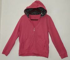 Three Hearts Hoodie Pink with Leopard print in Hoodie Women's Size Medium