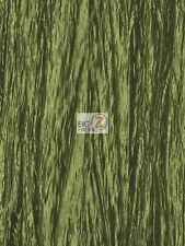 """CRUSHED TAFFETA FABRIC - Olive - 54"""" WIDE CREASED BY THE YARD CLOTHING CRAFTS"""