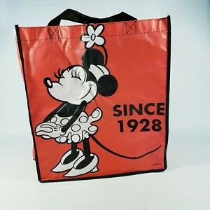 DISNEY 1928 CLASSIC MINNIE MOUSE RED REUSABLE TOTE/SHOPPING/FAVOR/GIFT BAG