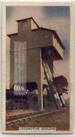 Railroad Locomotive Coaling Facility 80+ Y/O Trade Ad Card