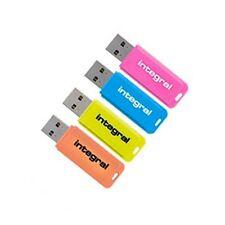 Integral 16GB Neon USB Flash Drives Memory Stick Pen Thumb 4 Pack