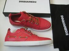 Authentic Dsquared2 CORALLO Leather Men's SNEAKERS Size 40 US 7