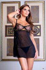 Lovely Day Lingerie Set Mesh Baby Doll and Panty.Size S