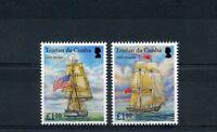 Tristan da Cunha 2015 MNH USS Hornet Captures HMS Penguin 2v Set Ships War 1812