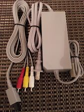 Nintendo Wii  Genuine OEM Official AC Power Supply & AV Cable Cord