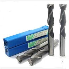 Extra Long(68mm) 5Pcs 6mm 2 Flute HSS & Aluminium End Mill Cutter CNC Bit