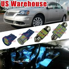 10-pc Aqua Blue LED Lights Interior Package Kit For 98-12 Mitsubishi Galant