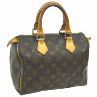 LOUIS VUITTON SPEEDY 25 HAND BAG MONOGRAM CANVAS LEATHER M41528 A46512j