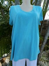 ROAMANS BROADERIE ANGLAISE TOP FRILLED BLUE PLUS SIZE  FREE P/&P